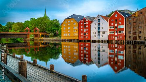 Fényképezés  Trondheim city before sunrise. Norway