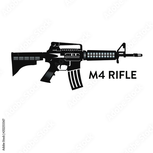 m4 rifle stock vector | adobe stock  adobe stock
