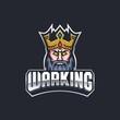 King logo design, mascot logo