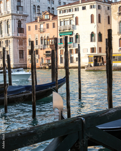 Foto op Plexiglas Venetie A view on the canal in Venice, Italy. March 2018. For editorial use only.