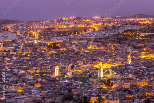 Night city scene in Fez Morocco Wallpaper Mural