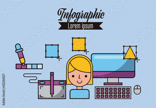 Creative Process Infographic Layout. Buy this stock template ...