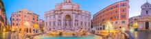Trevi Fountain Illuminated At ...