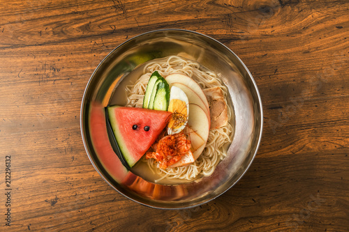 韓国北朝鮮料理 冷麺 Korea cold noodle dishes