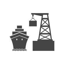 Sea Trade Port Simple Icon