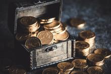 宝箱の金貨