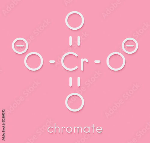 Chromate anion, chemical structure. Skeletal formula. - Buy this ...