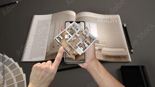Augmented reality concept Wallpaper Mural