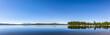 canvas print picture - spiegelnder Bergsee