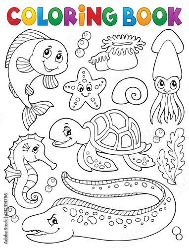 In de dag Voor kinderen Coloring book sea life collection 1