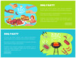 BBQ Party Web Sites with Text Vector Illustration