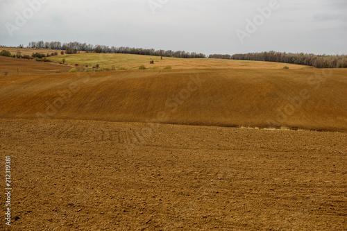 Spoed Foto op Canvas Platteland Roughed field in Nizhny Novgorod Region, Russia