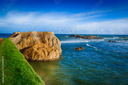 Foto op Canvas Historisch geb. View of the Fort Galle and sea