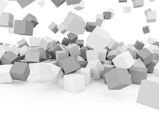 Falling boxes, illustration