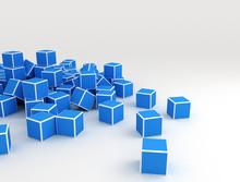 Blue Cubes, Illustration
