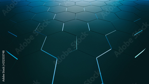 Dark hexagons, illustration