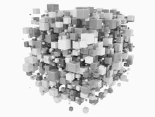 Grey And White Cubes, Illustration