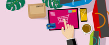 Online Shopping Vector Illustr...