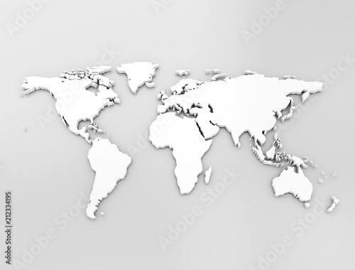 World map, illustration