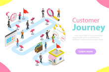Customer Journey Flat Isometri...