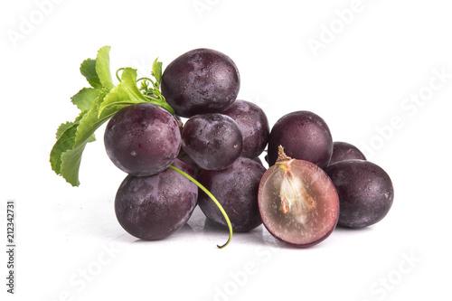 Fotografia, Obraz  Grapes on a white background