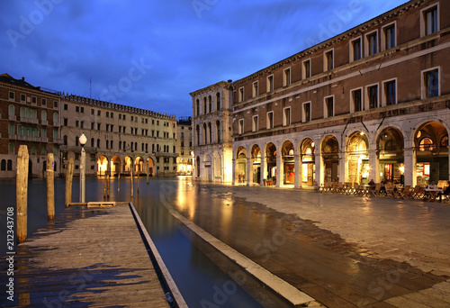 Plakat Kanał Grande w Wenecji. Region Veneto. Włochy