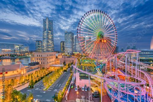 Plakat Yokohama, Japonia Skyline