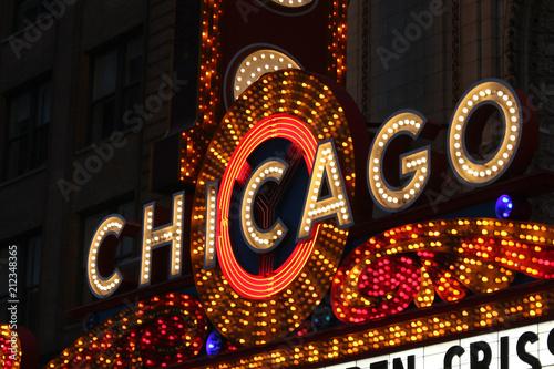 Poster Chicago USA - Chicago Bright Neon
