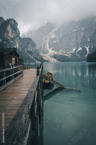 Wall Murals Arctic Mountains Lakes and Nature in the Dolomites, Italy
