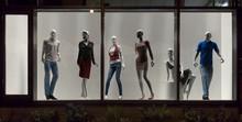 Mannequins In Fashion Shop, Di...