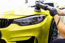 Car Detailing - Worker With Or...
