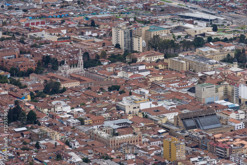 Keuken foto achterwand Zuid-Amerika land Vue aérienne de Bogota, Colombie