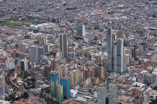 Photo Stands South America Country Vue sur Bogota depuis le Cerro de Monserrate