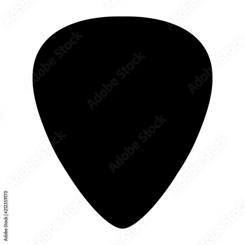 Fotografie, Tablou A black and white silhouette of a plectrum