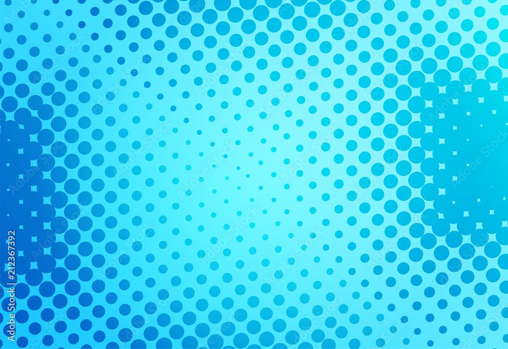 Photo & Art Print Blue pop art retro background with dots