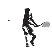Tennis Player, Isolated Vector...