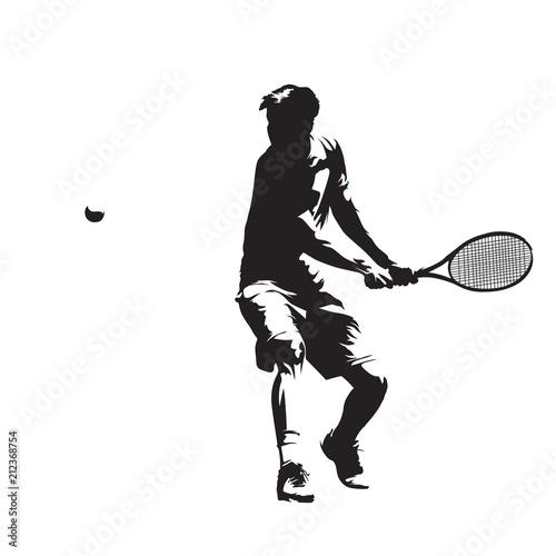 Plakat Osobliwa sylwetka Tenisisty