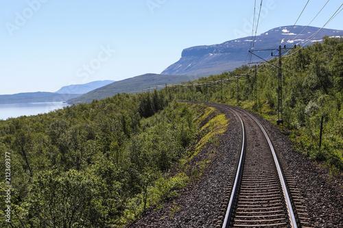 Train journey in North Sweden