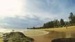Tropical beach time lapse during monsoon season. 4K