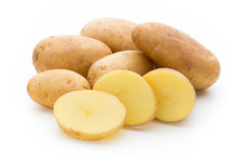 New Potato Isolated On The Whi...