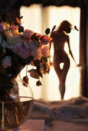 Poster womenART Sensual blonde at the window