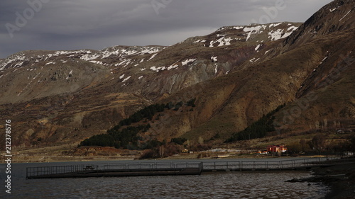 Foto op Aluminium Arctica snowy mountain