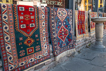 Colorful Rugs On Display