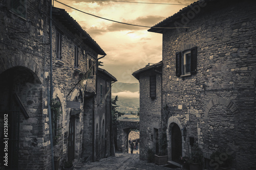 Montefalco, ancient medieval town in Umbria - Italy