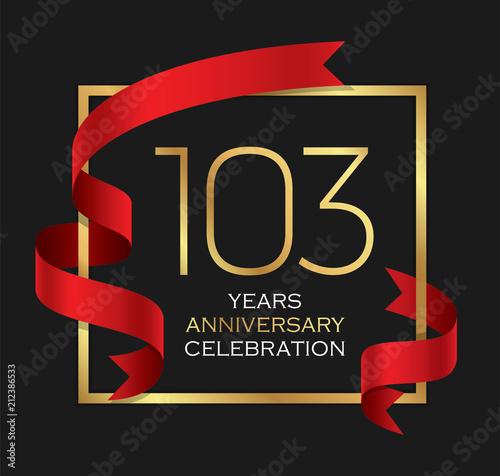103rd years anniversary celebration background Canvas Print