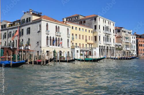 Stickers pour porte Venise Venice canals and boats