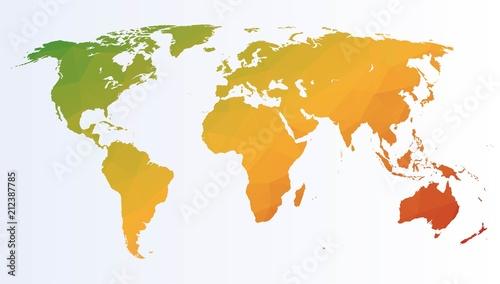 Plakaty kula ziemska   artystyczna-mapa