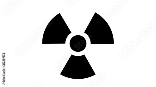Nuclear symbol icon Wallpaper Mural