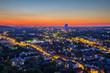 canvas print picture - Blick auf Bonn nach Sonnenuntergang