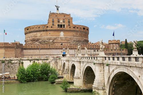 Zdjęcie XXL Castel Sant 'Angelo aross Tiber rzeka w Rzym, Włochy